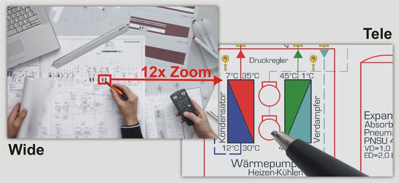 Портативная настольная документ-камера WolfVision VZ-9.4F с возможностью записи видео со звуком в собственную память и управлением с мобильных устройств по Wi-Fi.