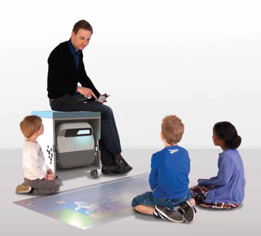 Интерактивная тумба LIGHTHOUSE, интерактивная система, короткофокусный интерактивный проектор, для детей 4-12 лет