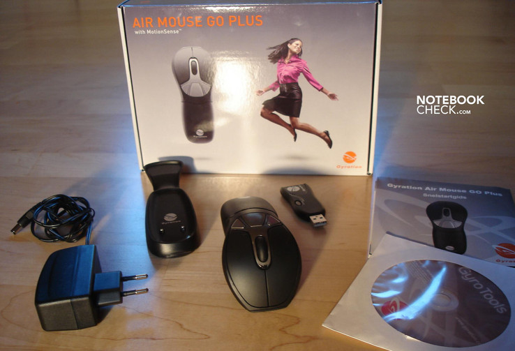 Gyration Air Mouse Go Plus' набор поставки